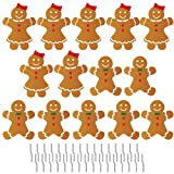 Gingerbread People Pathway Markers - Christmas Yard Decorations