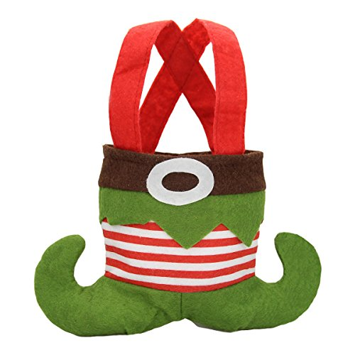 Elf shoes felt christmas gift bags holiday present small