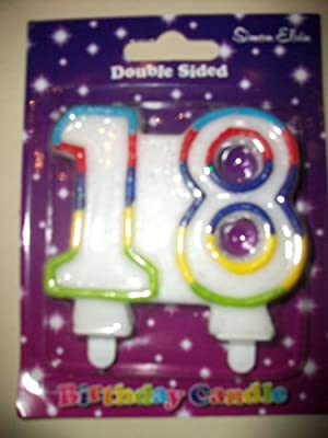 1 X 18th Number Birthday Candles