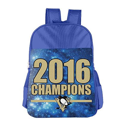 JXMD Custom 2016 Pittsburgh Hockey Team Teenager School Backpack For 4-15 Years Old RoyalBlue
