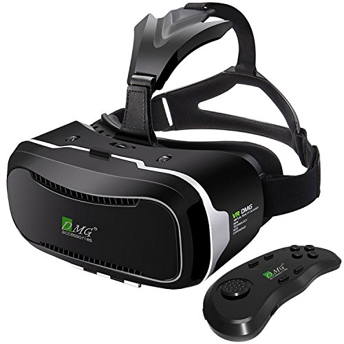 Virtual Reality Headset With Advanced Controller, DMG 3D VR Adjustable Glasses Virtual Reality Box For 3D Movies Video Games, For IPhone 7 Plus 6 Plus 6s, Samsung S7 S6 Edge S5 Note 5, Moto G5 / G5 Plus / G4 / G4 Plus, OnePlus 3T 3, Redmi Note 4 / 4a And