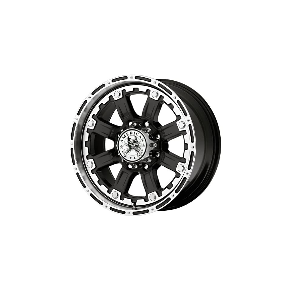 American Outlaw Armor Black Machined Face Wheel with Machined Finish (20x9/8x180mm)