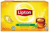 Lipton Black Tea Bags, Decaffeinated 50 ct (Pack of 12)