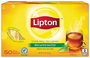 Lipton Tea, Decaffeinated 50 ct (Pack of 12)