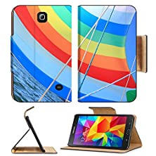 buy Msd Premium Samsung Galaxy Tab 4 7.0 Inch Flip Pu Leather Wallet Case The Wind Has Filled The Spinnaker On Sailing Yacht Detail Of A Colorful Sail Image 22076428