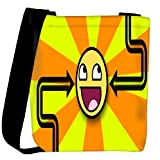 Snoogg Orange_Is Awesome Designer Womens Carry Around Cross Body Tote Handbag Sling Bags
