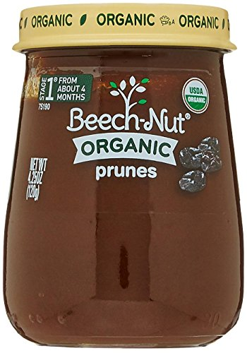 Beech-Nut Organic Prunes Stage 1 Baby Food, 4.25 Ounce (Pack of 10) (Baby Food Stage 1 Beechnut compare prices)
