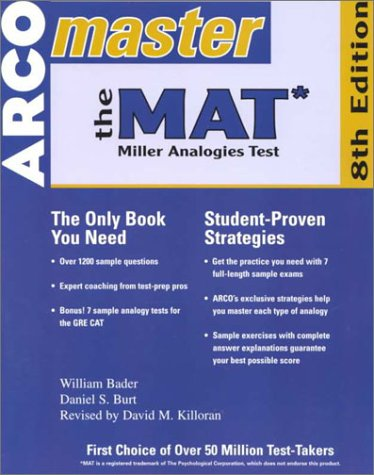 Master the Mat 2001: Miller Analogies Test (Master the Mat: Miller Analogies Test, 8th ed)