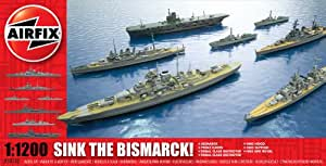 Airfix A50120 Sink the Bismarck! 1:1200 Scale Waterline Plastic Model Kit