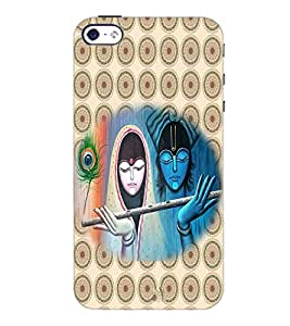 PrintDhaba Radha Krishna D-3793 Back Case Cover for APPLE IPHONE 4S (Multi-Coloured)