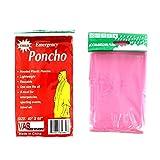 """4 VAS PINK Childrens 40"""" X 60"""" Emergency Child / Kid Rain Poncho"""