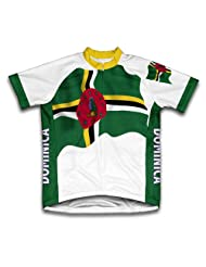 Dominica Flag Short Sleeve Cycling Jersey for Women