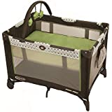 Graco on the Go Pack N Play Playard Barlow, Brown/Green