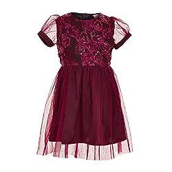 Maroon Rose Dress(BBKPD10M_Maroon_7 to 8 years)