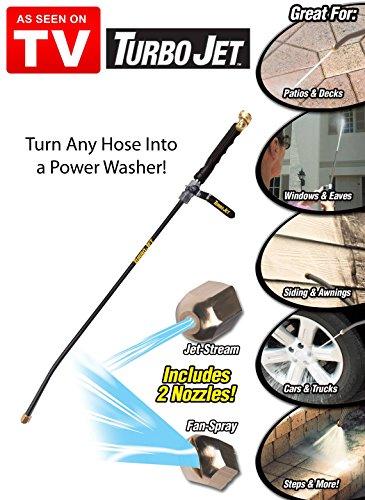 Turbo jet power washer high pressure spray nozzle ebay - Turn garden hose into pressure washer ...