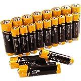 AA X 10 + AAA X 10 , Combo : Silicon Power Alkaline Sp/Silicon Power 10 Pack AA & 10 Pack AAA Alkaline Batteries - 1.5V Anti-Leakage Protection (SPAL23ABAT20SV1KAE)