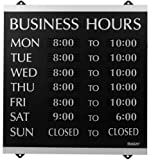 U.S. Stamp & Sign HeadLine Century Series 14×13 Inch Business Hours Sign, Black and Silver, 4247 thumbnail