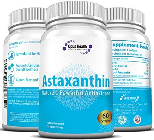 Astaxanthin 10mg (60-Day Supply) Softgels; Nature's Potent Antioxidant & Carotenoid (Haematococcus Pluvialis Extract compare prices)