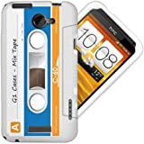 HTC One X Gel/TPU Case - Cool Retro Cassette Cover in White