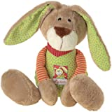 sigikid, Mädchen und Jungen, Schlummerfigur Hase, Wombel Bombel, Beige/Grün, 48083