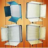 Fancierstudio 1008 LED Light Panel Dimmable Light Panel Bi Color Operates on DC 12V And AC 110V To 240V