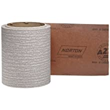Norton A275 No-Fil Adalox Abrasive Roll, Paper Backing, Pressure Sensitive Adhesive, Aluminum Oxide, Waterproof, Roll 4-1/2&#034; Width x 10yd Length, Grit 180 (Pack of 1)