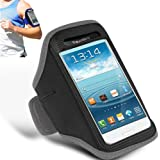 GRAY ADJUSTABLE ARMBAND GYM RUNNING JOGGING SPORTS CASE COVER HOLDER FOR SAMSUNG GALAXY S2 i9100 FROM GB ONLINE SALES - FREE UK DELIVERY