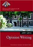 Bar Manual: Opinion Writing 2003-2004