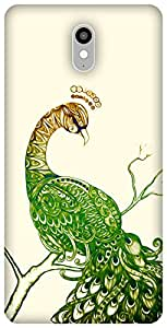 The Racoon Lean printed designer hard back mobile phone case cover for Lenovo Vibe X3. (Peacock Wh)