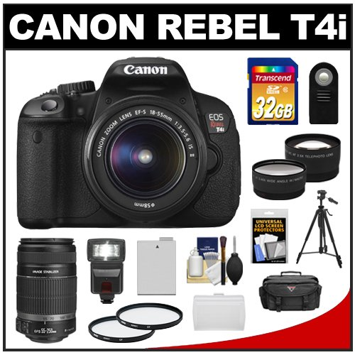 Canon EOS Rebel T4i Digital SLR Camera Body &