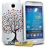Accessory Master Housse en silicone pour Samsung Galaxy S4 Mini i9190 Motif Fleurs Conception/Arbre avec Coeur