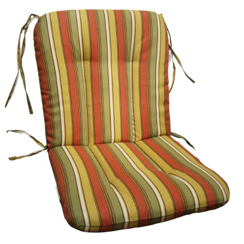 Wrought Iron Chair Cushion Tropical Palm Stripe Ochre Look Check Price
