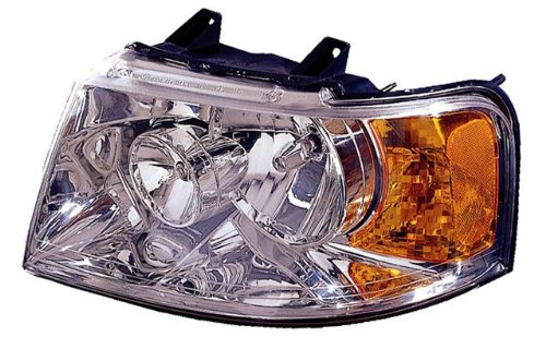 2003-2006 Ford Expedition Led Halo Projector Headlights /W Amber (Chrome)