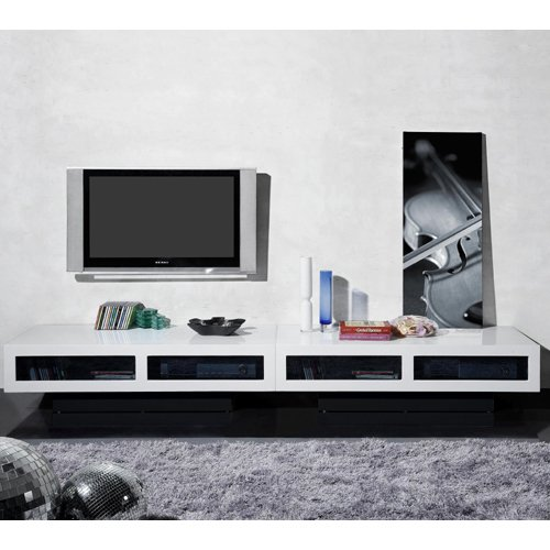 Cheap btb by Jus Design Joe 94″ TV Stand Entertainment Center – White Lacquer (B004WJTYNE)