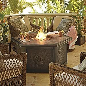 Amazon.com - Hampton 5-pc. Outdoor Chat Set with Arezzo Custom Fire