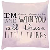 Snoogg All Those Little Things Cushion Cover Throw Pillows 16 X 16 Inch