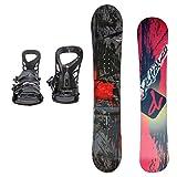 DEFIANCE メンズ スノーボード2点セット 152サイズ レッド+MLブラック