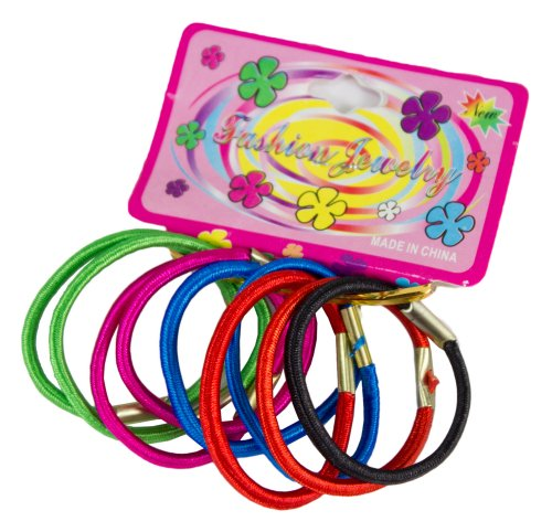 Starlite 9 Pack Mulitcoloured Pony Tail Hair Band Ties Multicoloured HC654622-FREE SHIPPING