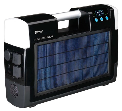 Xantrex Technologies Xpower AC/DC Powerpack Solar With 400 Watt Inverter, Two AC Outlets, USB Port, And Digital Display