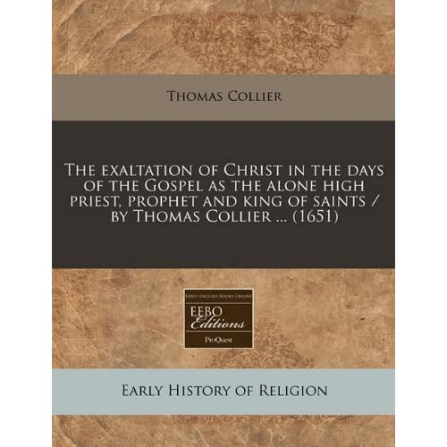 The exaltation of Christ in the days of the Gospel as the