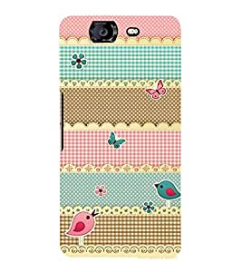 Multicolor Pattern 3D Hard Polycarbonate Designer Back Case Cover for Micromax Canvas Knight A350