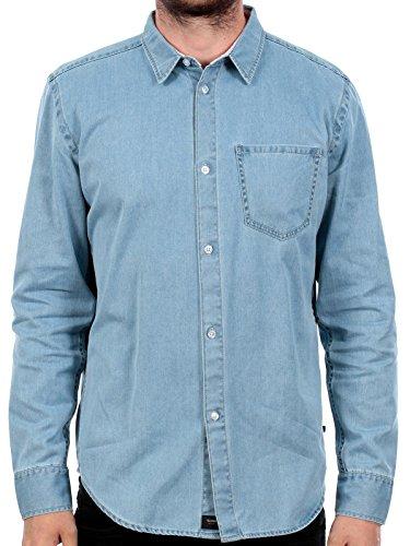 Camicia A Maniche Lunghe Globe Devon Faded Indigo (L , Blu)