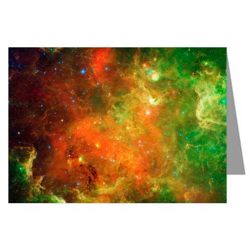 Swirling Landscape Of Stars - Hubble Telescope Image From Nasa -Single Greeting Card