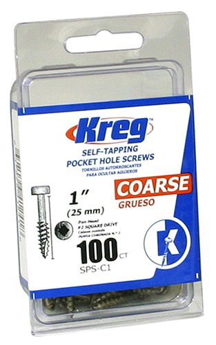 Kreg SPS-C1-100 Pocket Screws - 1-Inch 7 Coarse Pan-Head 100-CountB0000DD5ZY