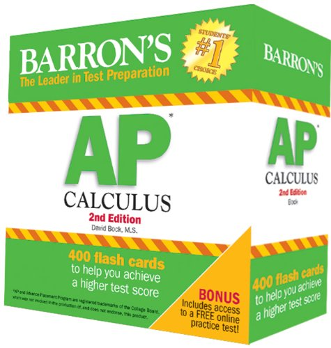 Download Barron's AP Calculus Flash Cards, 2nd Edition