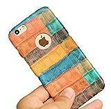 Sta.ANA(サンタ・アナ) iPhone6 6s アイフォン ケース カバー ヴィンテージ 合皮 フェイク カラフル ペイント ナチュラル 個性 手触り スリム 薄型 抗震 360度 保護 (オレンジ系)