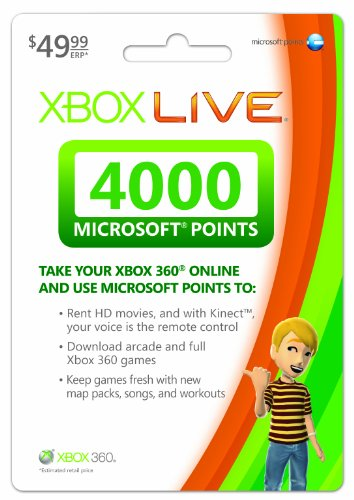 Xbox LIVE 4000 Microsoft Points [Online Game