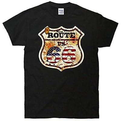 Route 66 Vintage US Flag T-Shirt