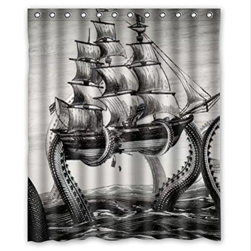 Best Kraken Attack Shower Curtain