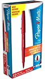 Paper Mate Flair Original Fibre-Tip Pen - Red (Pack of 12)